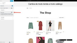 Cambia de modo tienda a modo catálogo