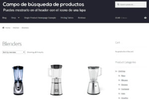 Campo de búsqueda de productos