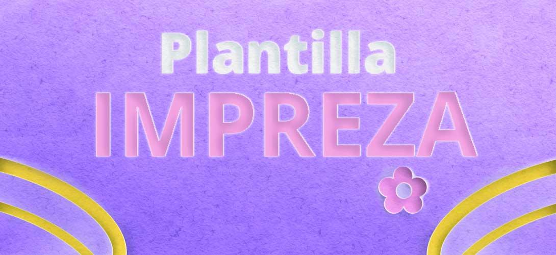 Plantilla impreza