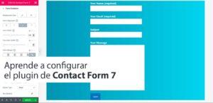 Aprende a configurar el plugin de Contact Form 7