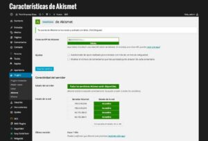 Características de Akismet