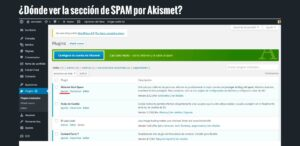 Dónde ver la sección de SPAM por Akismet