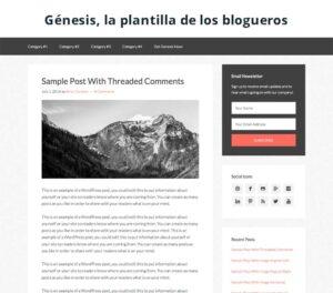 Génesis, la plantilla de los blogueros