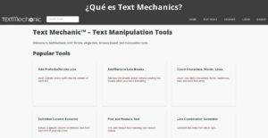 Qué es Text Mechanics