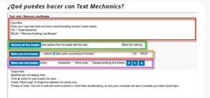 Qué puedes hacer con Text Mechanics